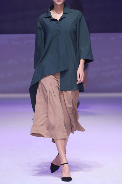 17SS WIDE BLOUSE - GREEN