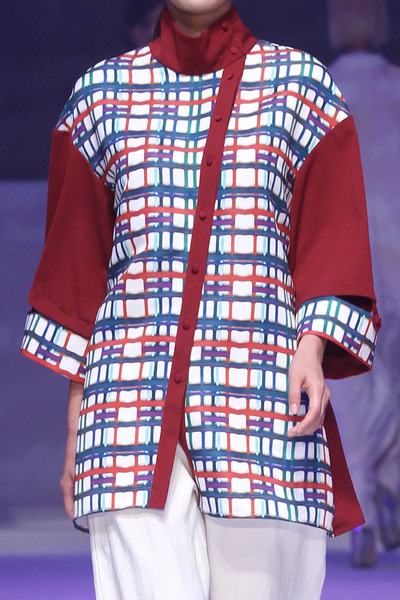 17SS COLOR CHECK BLOUSE